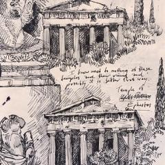 "Greece - 2019 Sketchbook • <a style=""font-size:0.8em;"" href=""http://www.flickr.com/photos/46362485@N02/48007420861/"" target=""_blank"">View on Flickr</a>"