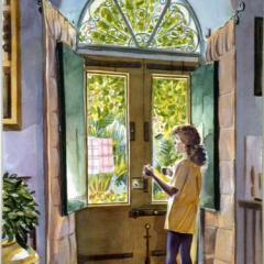 """Paulette in Doorway • <a style=""""font-size:0.8em;"""" href=""""http://www.flickr.com/photos/46362485@N02/13701487163/"""" target=""""_blank"""">View on Flickr</a>"""
