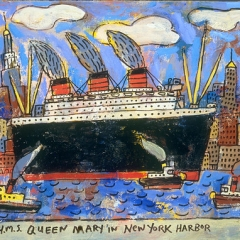 """Queen Mary in New York Harbor • <a style=""""font-size:0.8em;"""" href=""""http://www.flickr.com/photos/46362485@N02/11193645165/"""" target=""""_blank"""">View on Flickr</a>"""