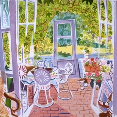 """Sunny Porch, Cape Cod • <a style=""""font-size:0.8em;"""" href=""""http://www.flickr.com/photos/46362485@N02/11193733253/"""" target=""""_blank"""">View on Flickr</a>"""